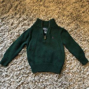 Lightly USED! Boy's Ralph Lauren Zip sweater 2T